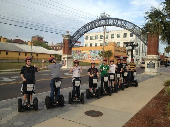 Electric Glide Tours :                   Taking my son and 7 of his friends on a Segway Tour in Ybor City