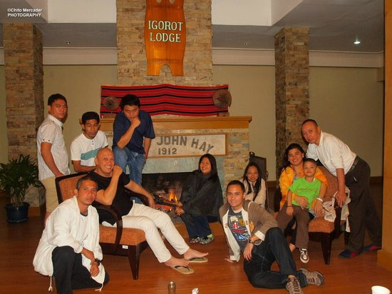AIM Igorot Lodge:                   The Fireplace