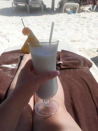 Secrets Maroma Beach Riviera Cancun:                   Pina Coladas on the beach!