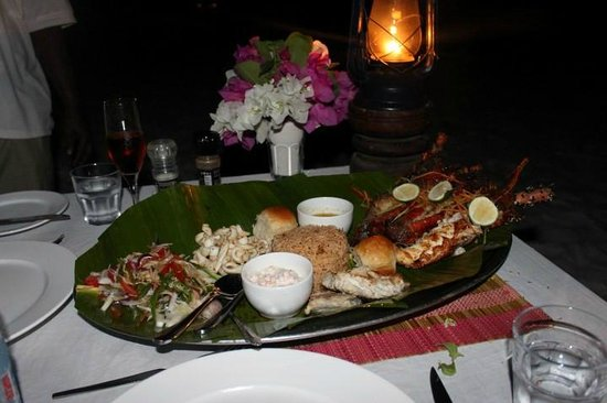 The Manta Resort:                   what you have with a beach side dinner