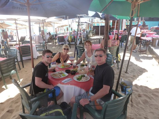 The Moxitos Beach Club:                   Enjoying this,wonderful beach bar/restaurant!