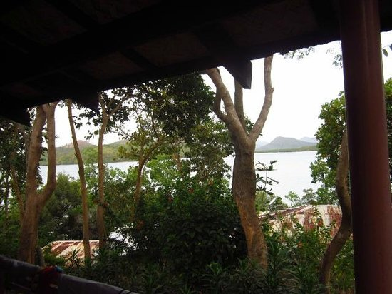 Discovery Island Resort and Dive Center:                   Private balcony facing Coron bay