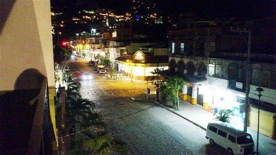 Hotel Belmar:                   from hotel at night