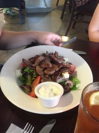 Degani Bakery Cafe:                                     beef salad