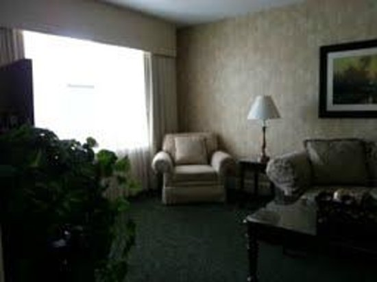 The Genesee Grande Hotel :                   Cable TV with comfy couch