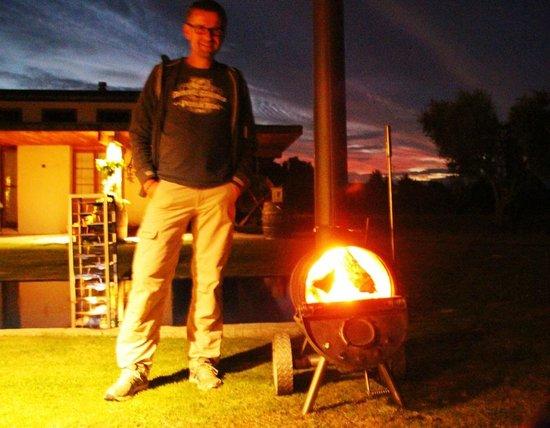 Antria Boutique Lodge : Feuer im Beer-Barel... love it!