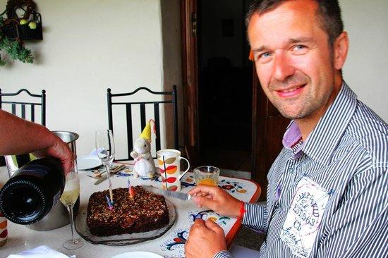 Antria Boutique Lodge : Sektfrühstück zum Geburtstag meines Mannes...
