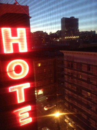 Hotel Carlton, a Joie de Vivre hotel: cool sign