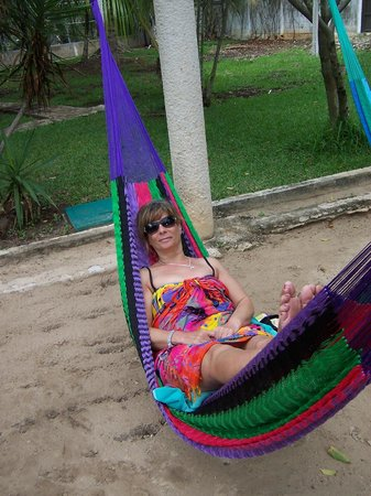 Real Playa del Carmen:                   Relaxing in the hammocks