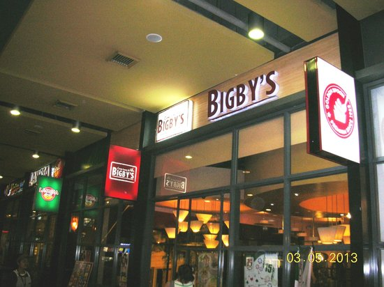 Bigby's Cafe:                   Bigby's sign at SM City North Wing
