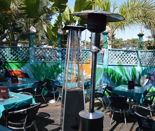 Jamroc 101 Caribbean Grill :                   A view of the comfortable outdoor seating area