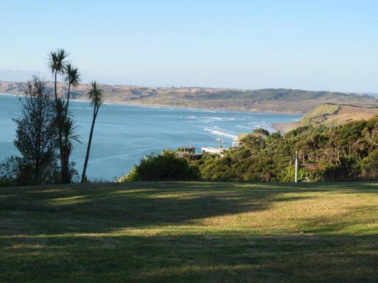 The view of Manu Bay and Raglan from Solscape's grounds