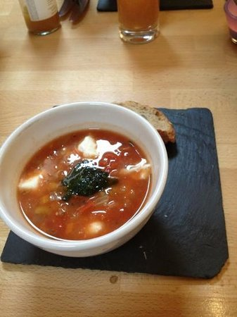 Restaurant at the Grange:                   Tuscan soup