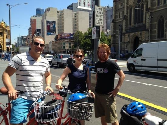 Freddy's Bike Tours:                   great day sightseeing in Melbourne with Freddy