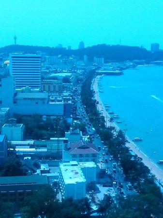 Hilton Pattaya:                   View from Room Looking Up Towards Walking Street