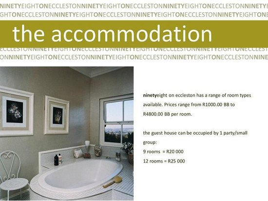 Ninetyeight on Eccleston: The Accommodation