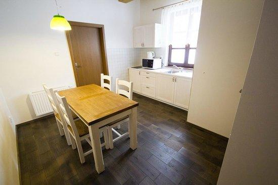 Penzion Rzehaczek: Kuchynsky kout, aneks kuchenny