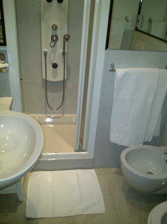 Al Ponte Antico Hotel:                   Tiny bathroom