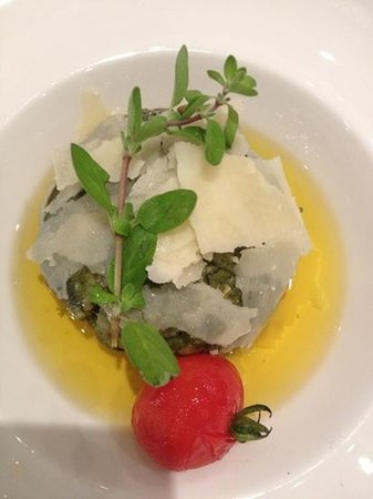 Sporthotel Strass: dinner - spinach dumpling