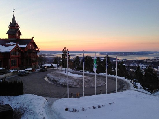 Scandic Holmenkollen Park:                                     View from my room at dawn