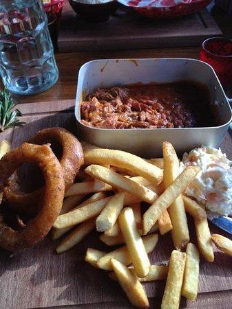 Hickory's Smokehouse:                                     pulled pork. amazing