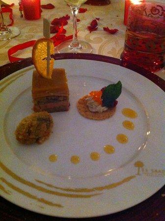 La cour des Lions :                   foie gras
