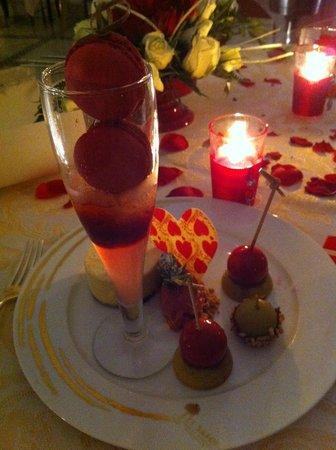 La cour des Lions :                   dessert saint valentin 2013