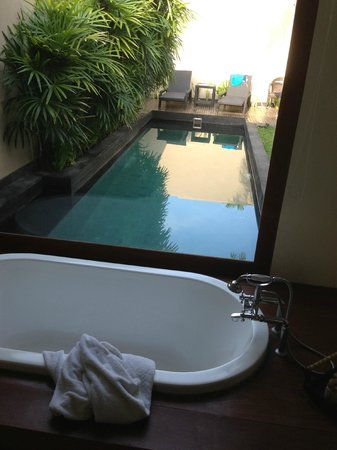 Anantara Vacation Club Bali Seminyak:                                     from the bathroom overlooking the pool