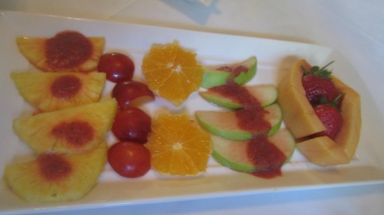 Parker Cottage:                                     Breakfast fruit platter