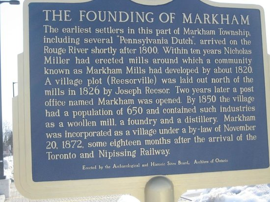 Markham Museum: Über Markham