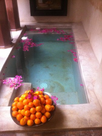 Zamzam Riad:                   Courtyard pool