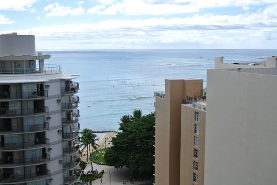Waikiki Resort Hotel:                   View from our room