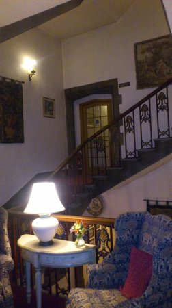 The Castle at Taunton:                   Stairwell with antiques