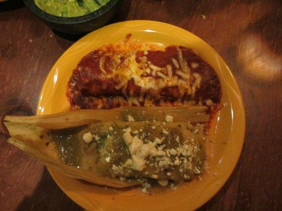 El Sabor:                   enchilada and tamale