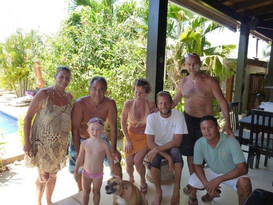 Villa Deevena:                   Patrick, Tasia and the staff