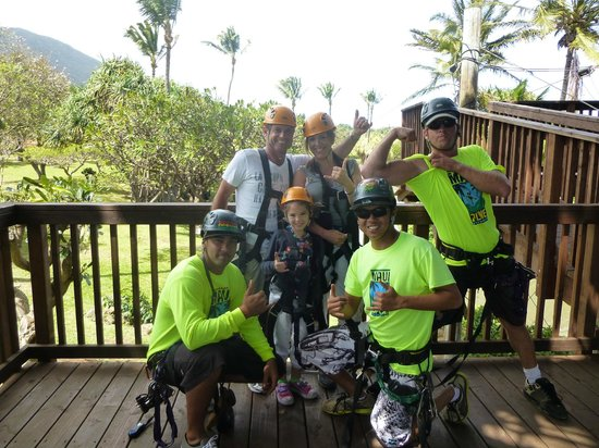 Maui Zipline Company:                                     The greatest ziplining crew ever!!