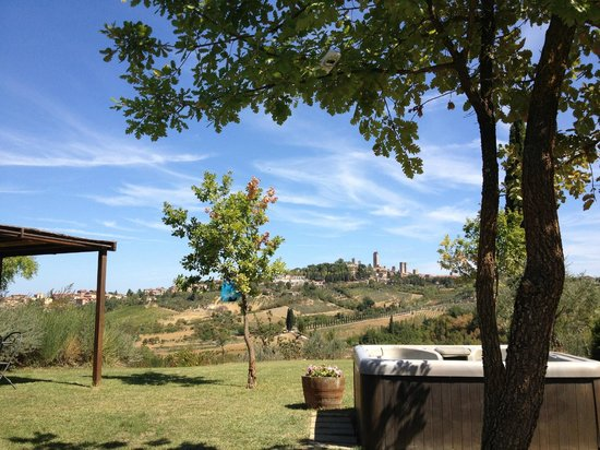 Agriturismo Raccianello : Uitzicht vanaf zwembad
