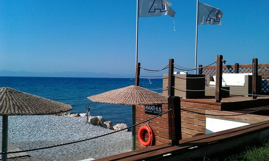 Amathus Beach Hotel Rhodes:                   Private Beach for hotel guests