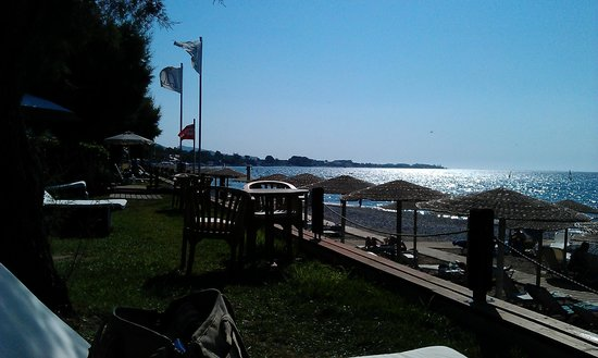 Amathus Beach Hotel Rhodes:                   View from Elite guests area of beach # 2