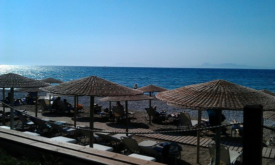 Amathus Beach Hotel Rhodes:                   View from Elite guests area of beach # 1