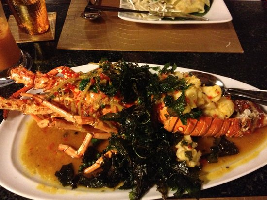 Jim Thompson on Dempsey Hill:                   Thai-style Lobster
