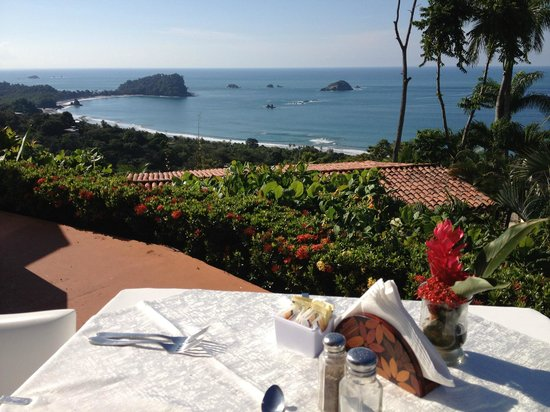 La Mariposa Hotel:                   Wonderful Complimentary Breakfast with breathtaking views