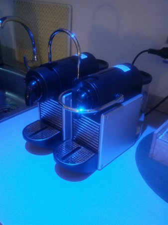 Hostal Q:                   Nespresso machine