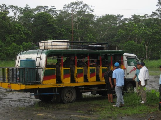 Shiripuno Amazon Lodge:                   This was our ride from Coca to the bridge - fun, but bring rain gear!