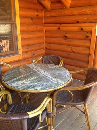 Westgate Smoky Mountain Resort & Spa:                   walk around porch with table and chairs