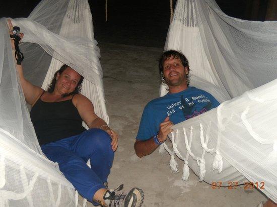 Camping Tayrona:                   hamacas