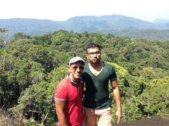 Sinharaja Forest Reserve:                   Top of Giant Rock 767m