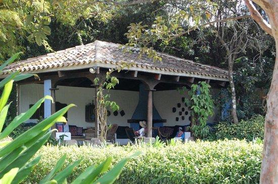 Quinta de las Flores : salon extérieur