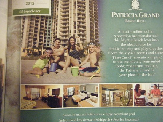 The Patricia Grand, Oceana Resorts:                                     What the ad promises - not what we got                    