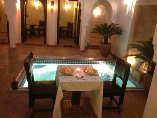 رياض بابا علي:                   Riad Baba Ali Dinner Table                 
